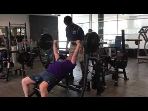 270 pounds x 7 incline bench press